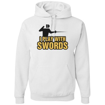 I Play With Swords Unisex Gildan Heavy Blend Hoodie