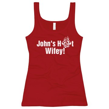 John&#x27;s Hot Wifey Junior Fit Bella Longer Length 1x1 Rib Tank Top