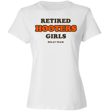 Retired Hooters Girls Alo Women&#x27;s Bamboo Crew Neck Tee