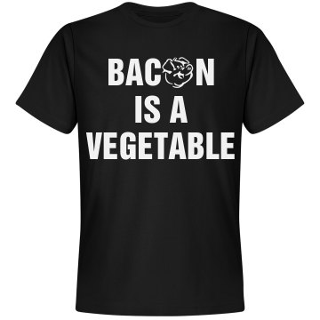 Bacon is a Veggie Unisex Basic Gildan Heavy Cotton Crew Neck Tee