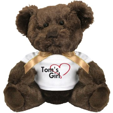 Tom's Girl Medium Plush Teddy Bear