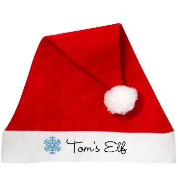 Tom's Elf Personalized Santa Hat