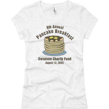 Charity Pancake Breakfast Junior Fit Basic Bella Favorite Tee
