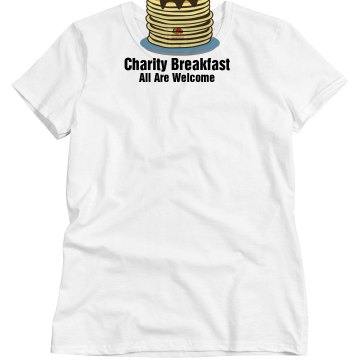 Church Pancake Breakfast Misses Relaxed Fit Basic Gildan Heavy Cotton Tee