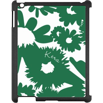 Graphic Floral iPad Case Black iPad Snap-on Case