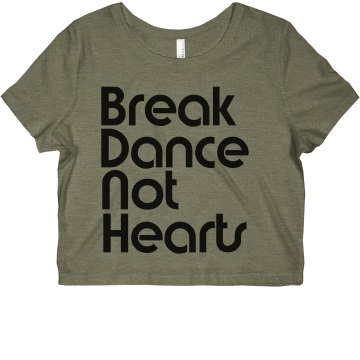 Break Dance Not Hearts Junior Fit Bella Sheer Longer Length Rib Tank Top