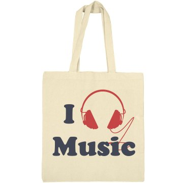 I Love Music Tote Liberty Bags Canvas Tote
