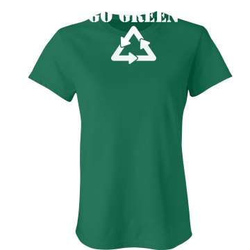 Go Green Junior Fit Bella Crewneck Jersey Tee