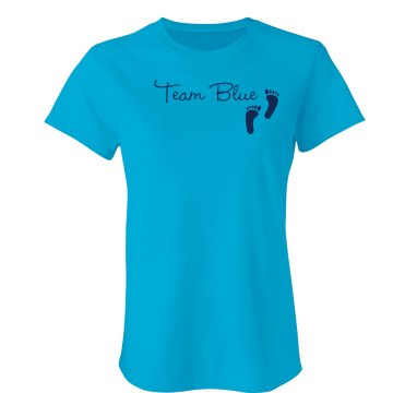 Team Blue Junior Fit Bella Sheer Longer Length Rib Tee
