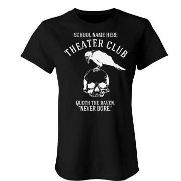 North Highschool Theatre Junior Fit Bella Crewneck Jersey Tee