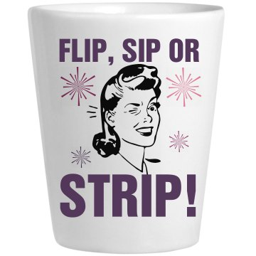 Flip Sip Strip Shot Ceramic Shotglass