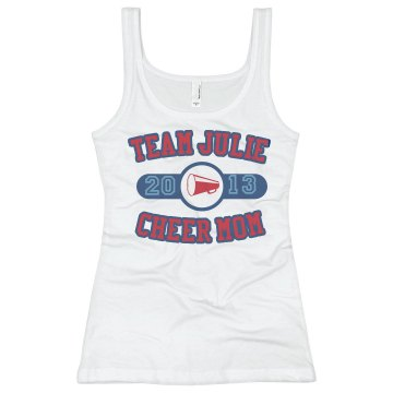 Team Julie Tank Junior Fit Basic Bella 2x1 Rib Tank Top