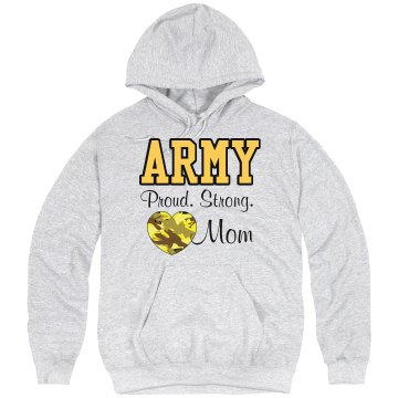 Army Strong Mom Hoodie Unisex Hanes Ultimate Cotton Heavyweight Hoodie