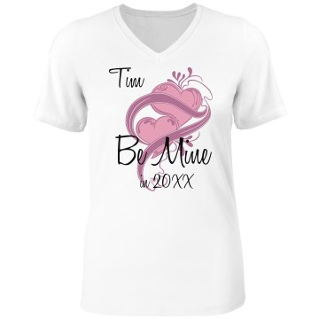 Be Mine In 2013 Misses Relaxed Fit Anvil V-Neck Tee