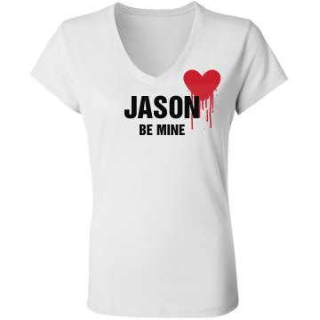 Jason Be Mine Junior Fit Bella Sheer Longer Length Rib V-Neck Tee 