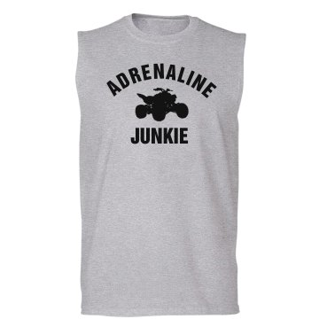 Adrenaline Junkie Unisex Gildan Ultra Cotton Sleeveless Tee