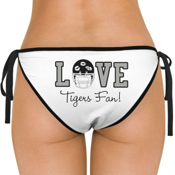 Football Love Bikini American Apparel Nylon Tricot Side-Tie Bikini Swimsuit Bottom