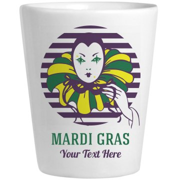 Mardi Gras Mask Shot Ceramic Shotglass