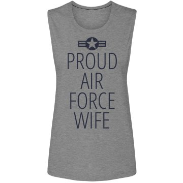 Proud Air Force Wife Unisex Hanes Ultimate Cotton Heavyweight Hoodie