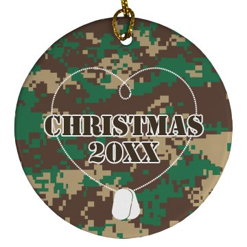 Army Ornament Plastic Ball Ornament