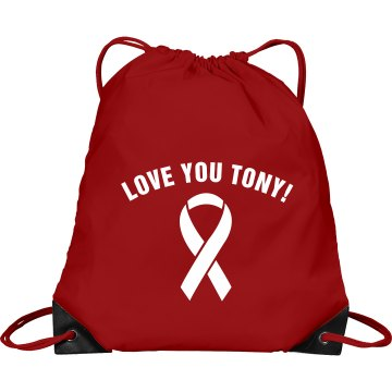 AIDS HIV Find a Cure Port & Company Drawstring Cinch Bag