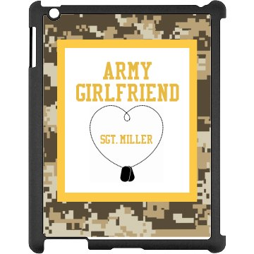 Army Girlfriend iPad Black iPad Snap-on Case