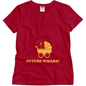 Future Wizard Maternity Misses Relaxed Fit Gildan Heavy Cotton Tee