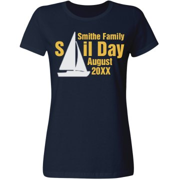 Family Vacation Sail Day Misses Relaxed Fit Gildan Ultra Cotton Tee