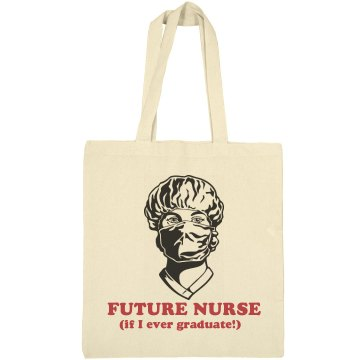 Future Nurse Tote Liberty Bags Canvas Bargain Tote Bag