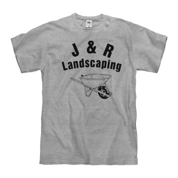 Wheelbarrow Landscaping Unisex Basic Gildan Heavy Cotton Crew Neck Tee