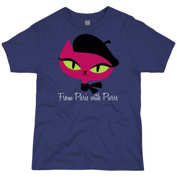 From Paris With Purrs Youth Bella Girl 1x1 Rib Tank Top