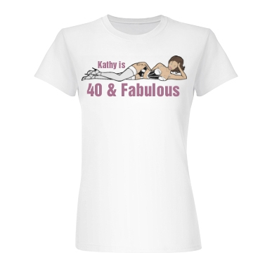 Fabulous And Forty  Junior Fit Basic Bella Favorite Tee