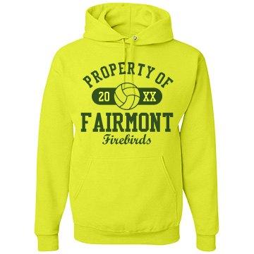 Fairmont Firebirds Unisex Jerzees Neon NuBlend Heavyweight Hoodie