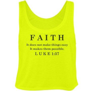 Faith Luke Tank Bella Flowy Boxy Lightweight Crop Top Tank Top