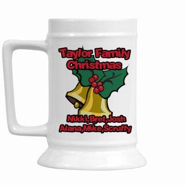 Family Christmas Stein