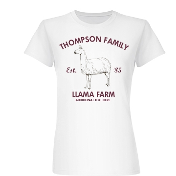 Family Llama Farm Junior Fit Basic Bella Favorite Tee