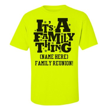 Family Reunion Cookout Unisex Gildan Ultra Cotton Safety Neon Crew Neck Tee
