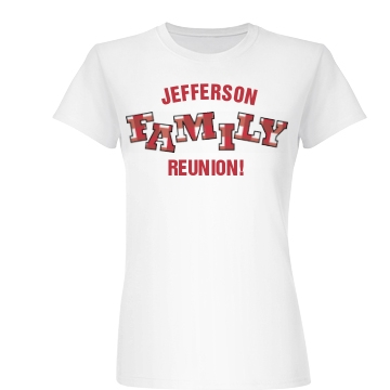 Family Reunion w/Back Junior Fit Basic Bella Favorite Tee