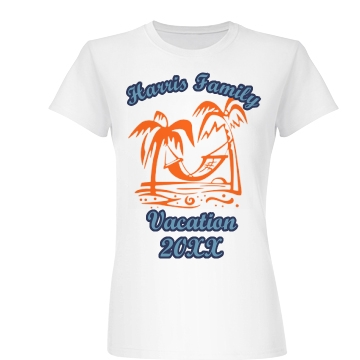 Family Vacation Tee Junior Fit Basic Bella Favorite Tee