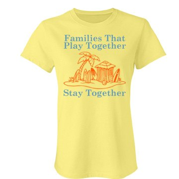Family Vacation w/Back Junior Fit Bella Favorite Tee