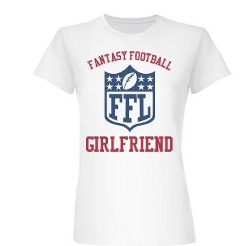 Fantasy Football Girl Junior Fit Basic Bella Favorite Tee