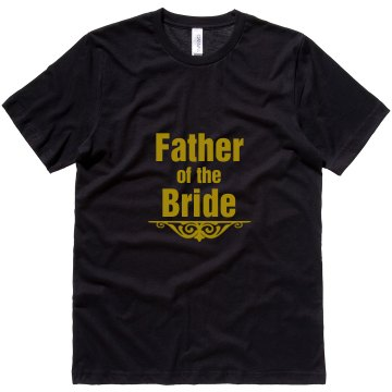 Father of Bride Accent Unisex Canvas Jersey Tee