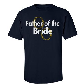 Father Of The Bride Rings Unisex Gildan Heavy Cotton Crew Neck Tee