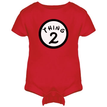 Thing 2 Onesie Infant Rabbit Skins Lap Shoulder Creeper