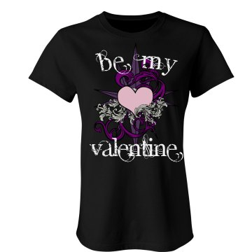 Be My Valentine Junior Fit Bella Sheer Longer Length Rib Tee