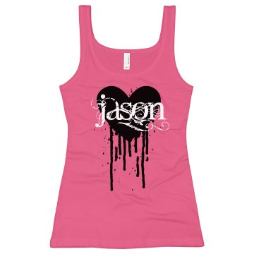 I Love Jason Junior Fit Bella Sheer Longer Length Rib Tank Top