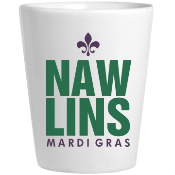 Nawlins Shot Ceramic Shotglass