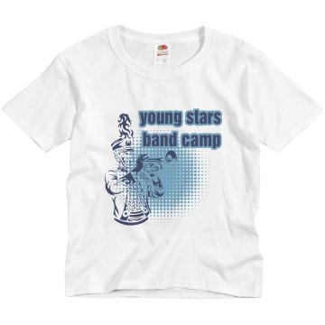 Young Stars Band Camp Youth Basic Gildan Ultra Cotton Crew Neck Tee