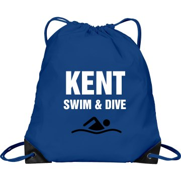 Kent Swim Bag Port &amp; Company Drawstring Cinch Bag