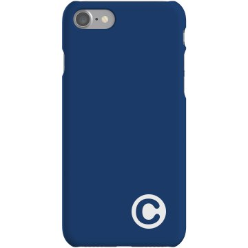 Custom C Monogrammed Case Plastic iPhone 5 Case White